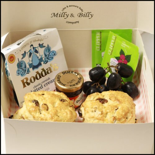 Dorset bakery Milly and billy cake and savoury cake company cream tea for two gift box
